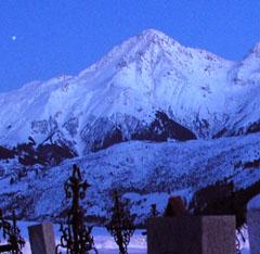 Piz Muraun mit Stern wie im August 1977 - hier allerdings eine Winteraufnahme vom Januar 2006