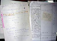 Das Manuskript der ersten Radiosendung, Januar 1987 (klicken für grosse Fassung)
