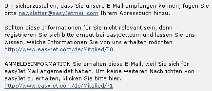 Easyjet Newsletter