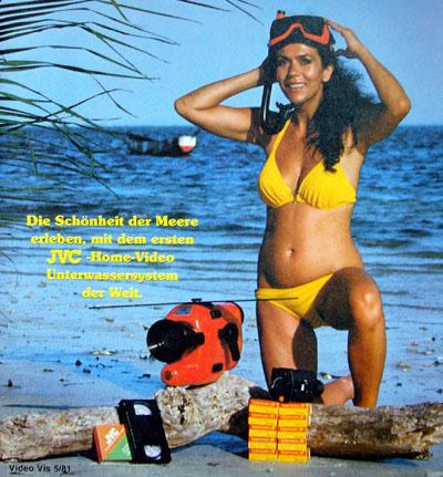 Werbung für das Unterwasser-Kamera-System von JVC (Video VIS 5/1981) - Klicken für grosse Fassung