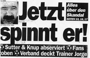 "Jetzt spnnt er: ""Blick"" im Juni 1996 (Archiv Blockseminar ikmb)"