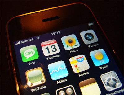 Mein erster Kontakt mit einem Apple iPhone, 13. November 2007 in Bern