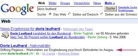 Vergessliche Webpublisher (Google, 9. Mai 2006)