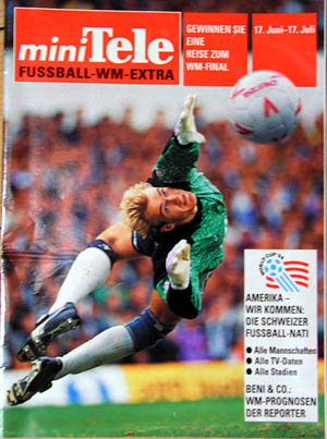 Marco Pascolo auf der Titelseite der TV-Beilage, Juni 1994