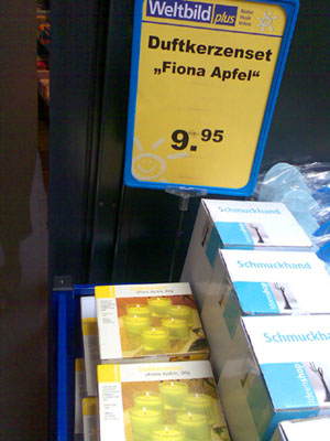 Fiona Apfel oder Apple? Bern, August 2006