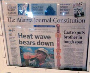 Und das bei 92°F Aussentemperatur (ATL, 2. August 2006)