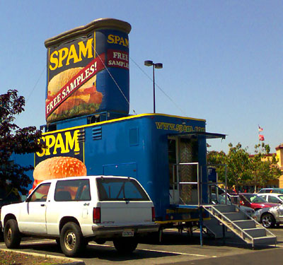 Get inside this Spam - Union City, beim WAL MART, 5. August 2006