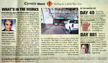 Chronicle Watch, 11. August 2006