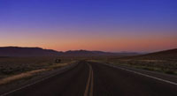 On a dark desert highway, cool wind in my hair... US-50, irgendwo in Nevada, August 2006