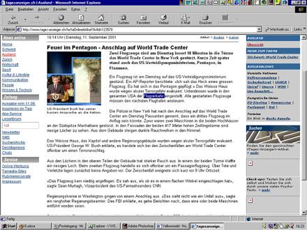 tagi.ch, 11. September 2001, 16.23 Uhr MESZ - Klicken für grosse Fassung