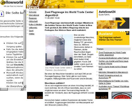 yellowworld.ch, 11. September 2001, 15.49 Uhr MESZ - Klicken für grosse Fassung