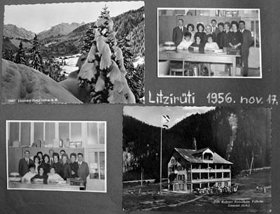 Litzirüti, heute vor 50 Jahren: Ankunft im Paradies... (Fotoalbum Familie Engel - klicken für grössere Fassung)