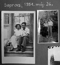 Alltag in Ungarn: Meine Grosseltern im Mai 1951 in Sopron (Ungarn) - klicken für grosse Fassung