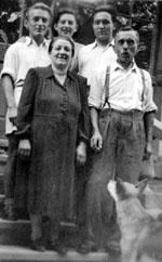 Des Bloggers Grosseltern und Urgrosseltern anno 1952 in Sopron (Ungarn) - klicken für grössere Fassung