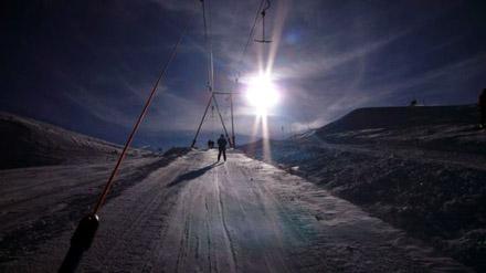 Zermatt, Plateau Rosa, 27. November 2006: Immerhin hier kann man richtig gut Ski fahren