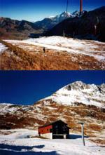 18. Dezember 1994 in Sedrun: Nicht gerade perfekte Skiverhältnisse - Klicken für grosse Fassung