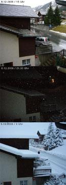 Einschneien in Sedrun, 8./9.12.2006 (Klicken für grosse Fassung)