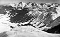 Skilift-Pionierzeit: Cuolm Val auf einer Postkarte, kurz nach Inbetriebnahme der beiden Städeli-Lifte in den frühen 1960er-Jahren... damals gabs noch nicht einmal Pistenmaschinen (Klicken für grosse Fassung)