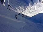 Eisiger Kunstschnee im Val da Stiarls / Val Val, Sedrun, 16.12.2006 (Klicken für grosse Fassung)