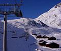 Cooler Moment im Leben eines Skifahrers: Erste Fahrt auf einer brandneuen Sesselbahn (Klicken für grössere Fassung)