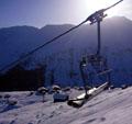 Aussicht von der neuen Sesselbahn auf die Talstation der früheren Skilifte (Klicken für grosse Fassung)
