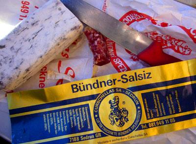 Salsiz aus Bündnern oder Bündner Salsiz? (Sedrun, Januar 2007)