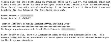 Symantec-Schrott, Teil 3