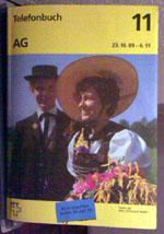 Telefonbuch der PTT, 23.10.1989-6.91, Band 11 (Aargau) - Berghaus Nüegg, Diemtigtal, Januar 2007 - Klicken für grosse Fassung