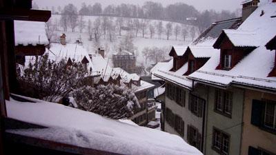 Der erste Schnee der Saison in Bern: 24. Januar 2007, 10 Uhr