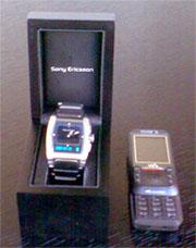 Sony Ericsson MBW-100 und W850i - nette Uhrenverpackung, mangelhafter Inhalt (Januar 2007)