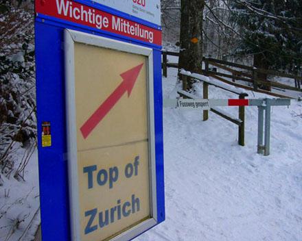 Jaja, die Zürcher... sehr wichtige Mitteilung! (Januar 2007, Üetliberg)
