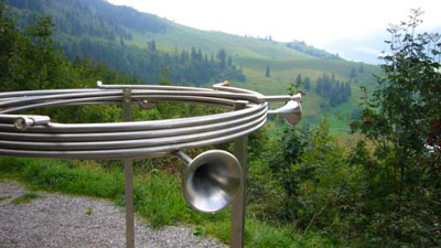 Installation am Klangweg im Toggenburg (September 2007)