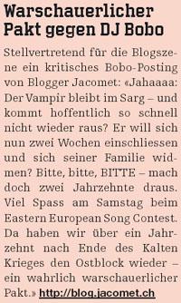 """""""Heute"""" vom 11. Mai 2007 - JacoBlök auf Seite 25"""