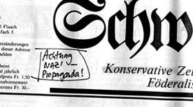 Schweizerzeit vom 24.2.1987 mit Notiz des geneigten, 15-jährigen Lesers