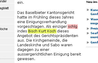 Bisch e bitz e Bitch? espace.ch (12.7.2007 / Hervorherbung JacoBlök)