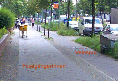 Velospur in Berlin: So muss es sein!