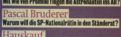 "Pascal oder Pascale? (Inserat im ""heute"", 27. Juli 2007)"