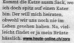 """Mein Bürsten sind hässlick (""""heute"""" vom 27. Juli 2007)"""