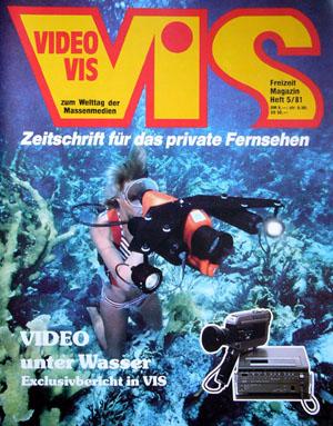 VIDEO VIS, Titelseite Heft 5/1981 (Klicken für grössere Fassung)