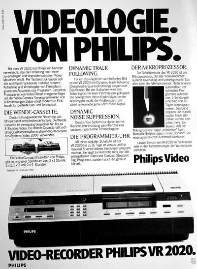Werbung für den Philips VR2020 (Video VIS 5/1981) - Klicken für grosse Fassung