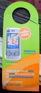 Corpus delicti: Unerwünschte Werbung von Nokia (20. August 2007)