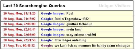Suchabfragen für dieses Blog... (August 2007)