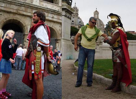 Römer im Einsatz (Beim Kolosseum und am Monumento a Vittorio Emanuele II, September 2007)