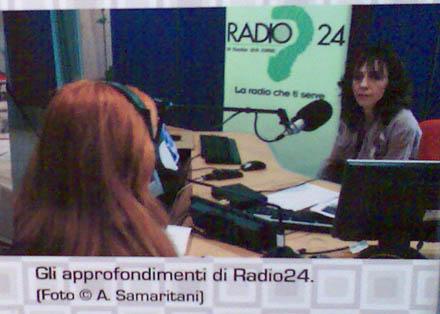Radio 24 in Italien... (Mueso di Roma in Trastevere, Sonderschau 30 Jahre Privatradios, September 2007)