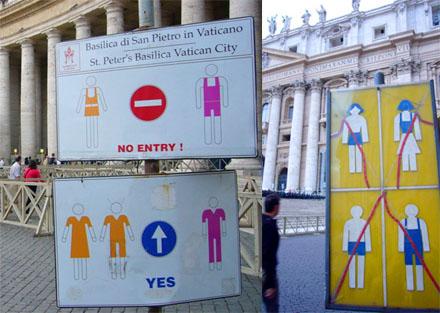 Kleiderordnung für Muttikan... öh, Vatikan-Besuche (September 2007)