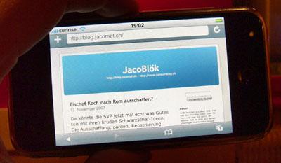 JacoBlök auf dem iPhone: Ein erstaunlich gutes Gefühl! (13.11.2007)