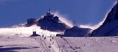 Stürmischi Zyte: Testa Grigia im November-Nordweststurm, 26.11.2007