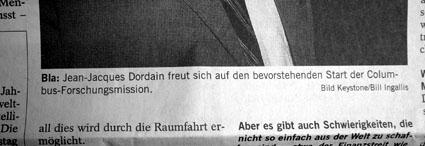 Wenn Blindtext stehen bleibt: Südostschweiz vom 8.12.2007