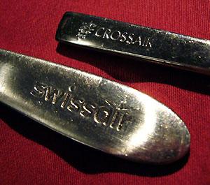 Swissair- und Crossair-Löffel aus dem grosselterlichen Nachlass