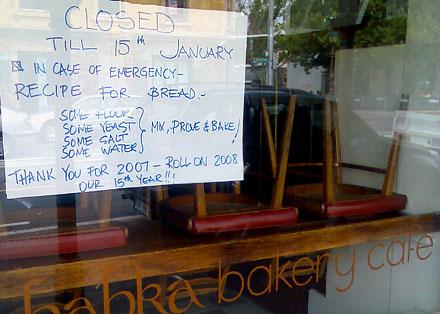 Café Babka, Melbourne, Australia (Januar 2008)